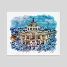 Palacio de Bellas Artes - Mixed Media - Canvas by Dreamframer