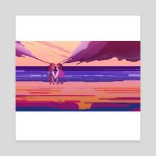 Jam Buds | Beach Day - Canvas by Cynthia Dávila-Chase