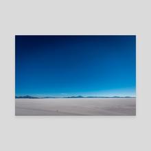 Wandering and exploring the salt lake - Canvas by Namchetolukla