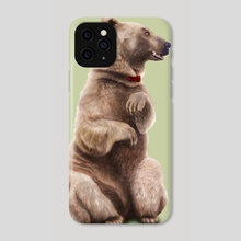 Bow Tie Bear - Phone Case by Chloe Wolverton