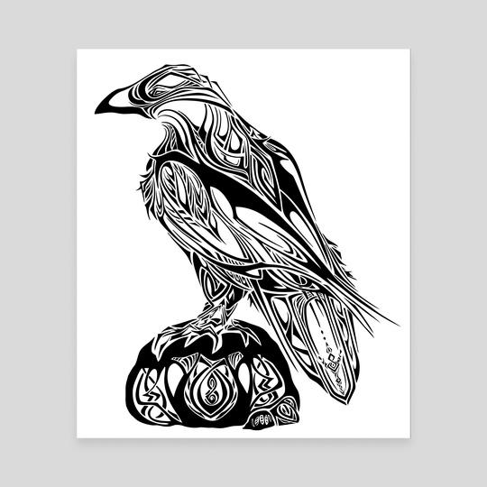 Tribal Raven by Katrina Wold
