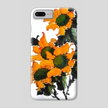 sunflower - Phone Case by Tei iji