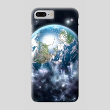 Planet earth and space cloud - Phone Case by Maciej Frolow