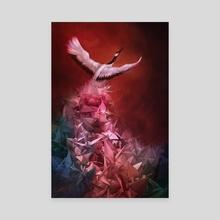 A Thousand Cranes - Canvas by Gracia Tjendera