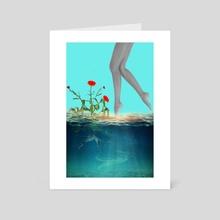 Walks - Art Card by Sweet Disorder Art