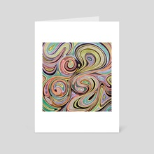 Soft ink drop - Art Card by federico cortese