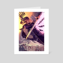 Fighting Fate - Art Card by Maegen Keefer