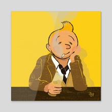 Looser Tintin - Acrylic by LeftHandedGraphic