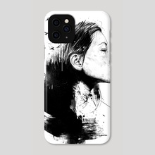 Open your mind (bw) - Phone Case by Balazs Solti