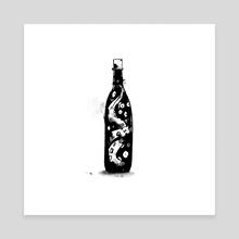 Inktober 2018: Bottle - Canvas by Mal Jones