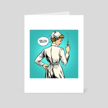 Nurse makes a shot vaccination - Art Card by Valeriy Kachaev