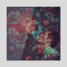 Romeo and Juliet - Acrylic by Damir Martic