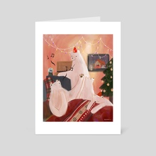 Christmas Song - Art Card by Cindy Kang