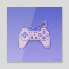 Playstation 1 Pad - Canvas by Fany Misu