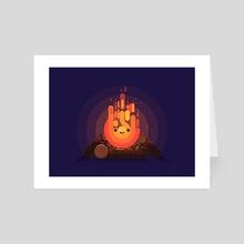 Bonfire - Art Card by Fabricio Rosa Marques