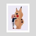 brie and pikachu - Art Print by maxy artwork