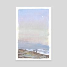 Moon Beach - Canvas by Emily Yosway Herr