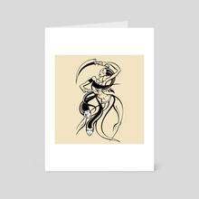 Hindu Goddess Kali. - Art Card by Katya Ulitina