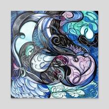 Restless Dawn - Acrylic by Hannah Maria