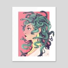 Medusa - Acrylic by Paula Zorite