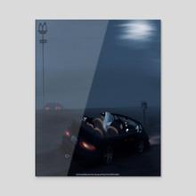 MIDNIGHT SNACK - Acrylic by MAWDSTAR