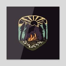 Fireside - Acrylic by Jimmy Bryant