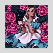 Alice in Wonderland - Canvas by Victoria K.