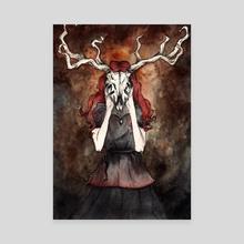 The Devil's Girl - Canvas by Melina Hänser