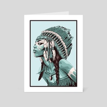Native American - Art Card by Non Vale Art