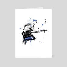Blue Bassist Balzary - Art Card by Bulletproof-Eggs