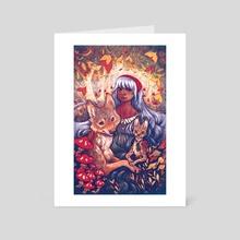 Wolfe&ServalFriends - Art Card by Samrae Duke