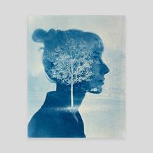 Maria Cyanotype - Canvas by Roman Langolf