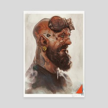 The Mechanic  - Canvas by Rafael Sarmento