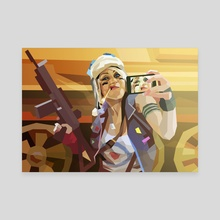 Tank Girl - Canvas by Liam Brazier