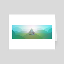 Misty Mountain - Art Card by Elise Fachon