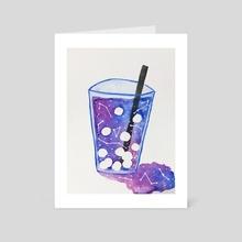 Cosmic Boba Tea - Art Card by Elysian