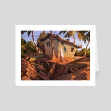 Beach house - Art Card by Robin Lhebrard