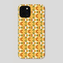 Pixel Flower Pattern - 2 - Phone Case by Wagnerps Creations