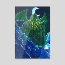 Cthulhu rises - Acrylic by Emilio Palazzo