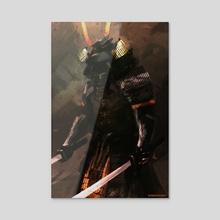 Samurai - Acrylic by Christian Villacis