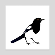 Magpie - Canvas by Bianca Wisseloo