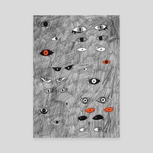 Eyes in the Dark | Halloween Print - Canvas by Chrissy Curtin