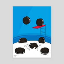 Oreo Pool Party - Canvas by Pineapple Art