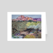 Camelback Mountain, Arizona - Art Card by AnnMarie Young