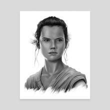 Star Wars: The Force Awakens - Rey - Canvas by Tom Velez