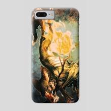 CoyoteBringsFire - Phone Case by Samrae Duke