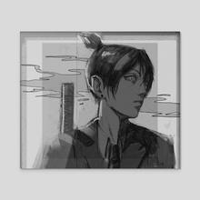 Aki Hayakawa - Acrylic by lekkiti