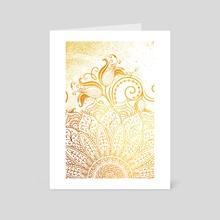 Mandala - Golden brush - Art Card by Alexandre Ibáñez