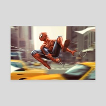 Spider-man - Canvas by Tom Velez