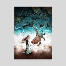 Koi Tears - Canvas by Emmylou Zora